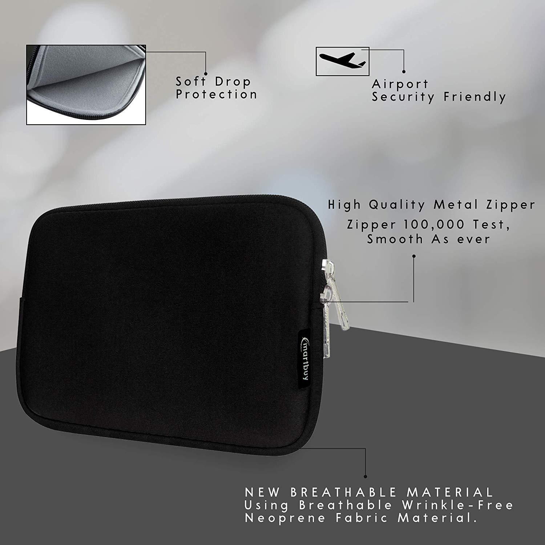 baeac096be0a Emartbuy® Water Resistant Neoprene Soft Zip Cover for HP EliteBook Revolve  810 (Black Plain_11.6-13.3 Inch)